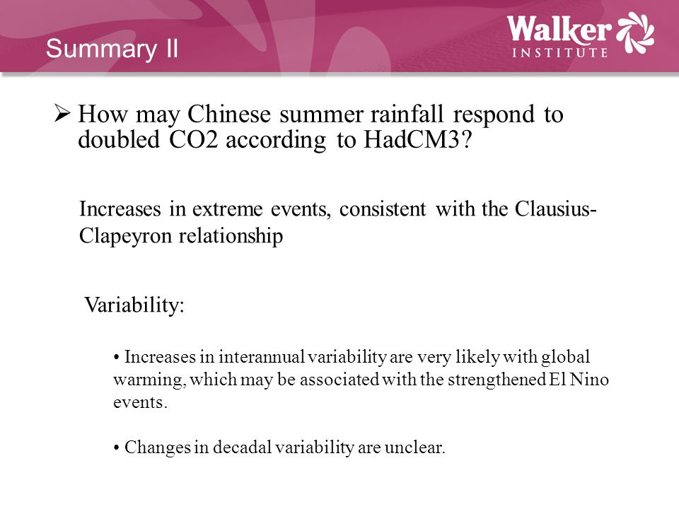  How may Chinese summer rainfall respond to doubled CO2 according to HadCM3.