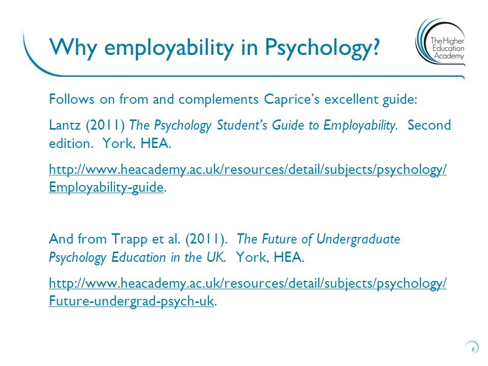Follows on from and complements Caprice's excellent guide: Lantz (2011) The Psychology Student's Guide to Employability.