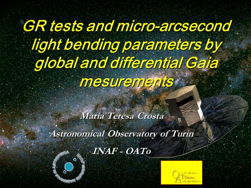March 31 2006, Birmingham Summary  1.PPN γ measurement through global astrometry  2.