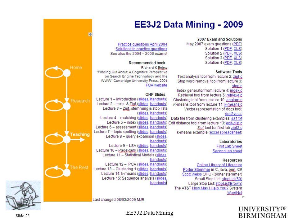 Slide 25 EE3J2 Data Mining