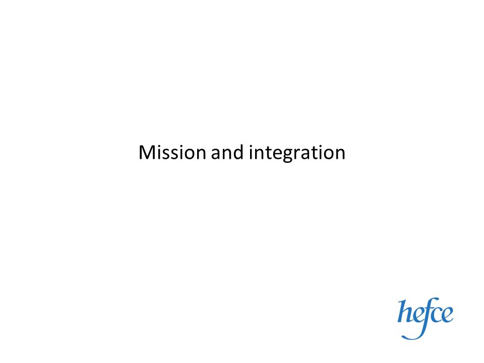 Mission and integration