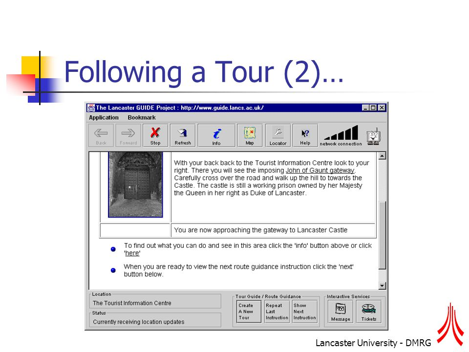 Lancaster University - DMRG Following a Tour (2)…