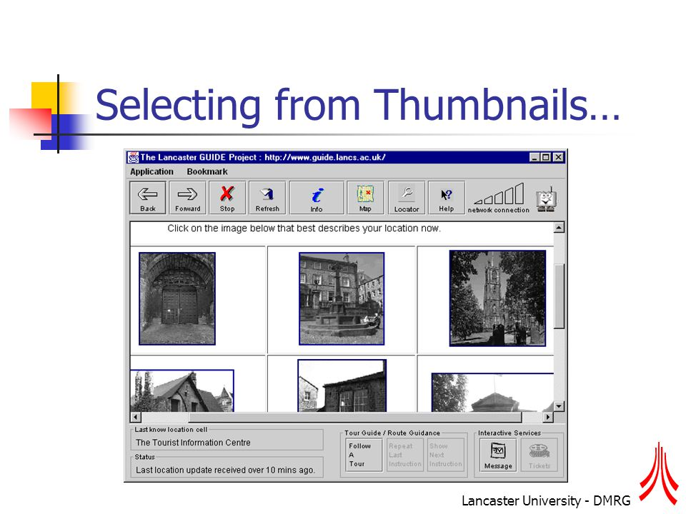 Lancaster University - DMRG Selecting from Thumbnails…