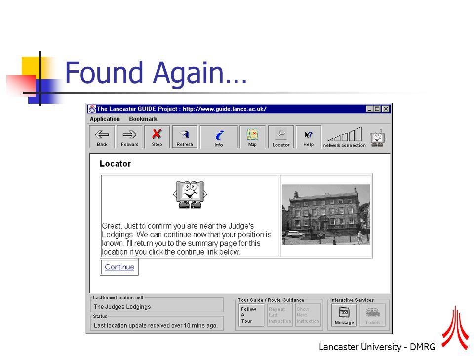 Lancaster University - DMRG Found Again…