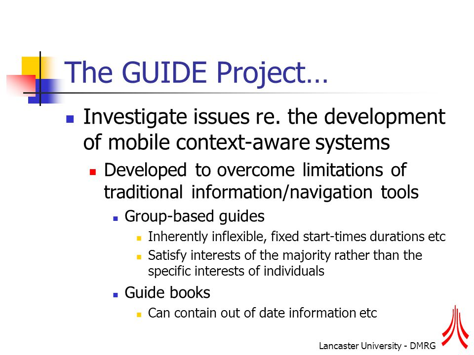 Lancaster University - DMRG Concluding Remarks… Is context (e.g.