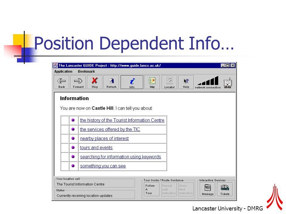 Lancaster University - DMRG Position Dependent Info…