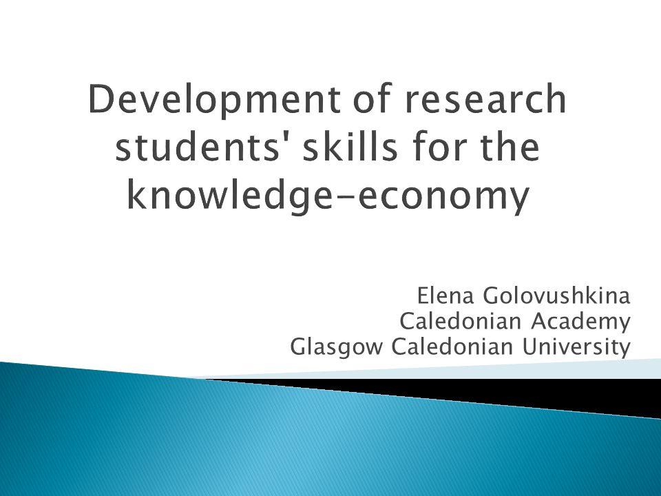 Elena Golovushkina Caledonian Academy Glasgow Caledonian University