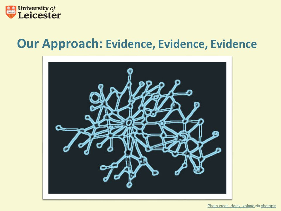 Our Approach: Evidence, Evidence, Evidence Photo credit: dgray_xplane Photo credit: dgray_xplane via photopinphotopin