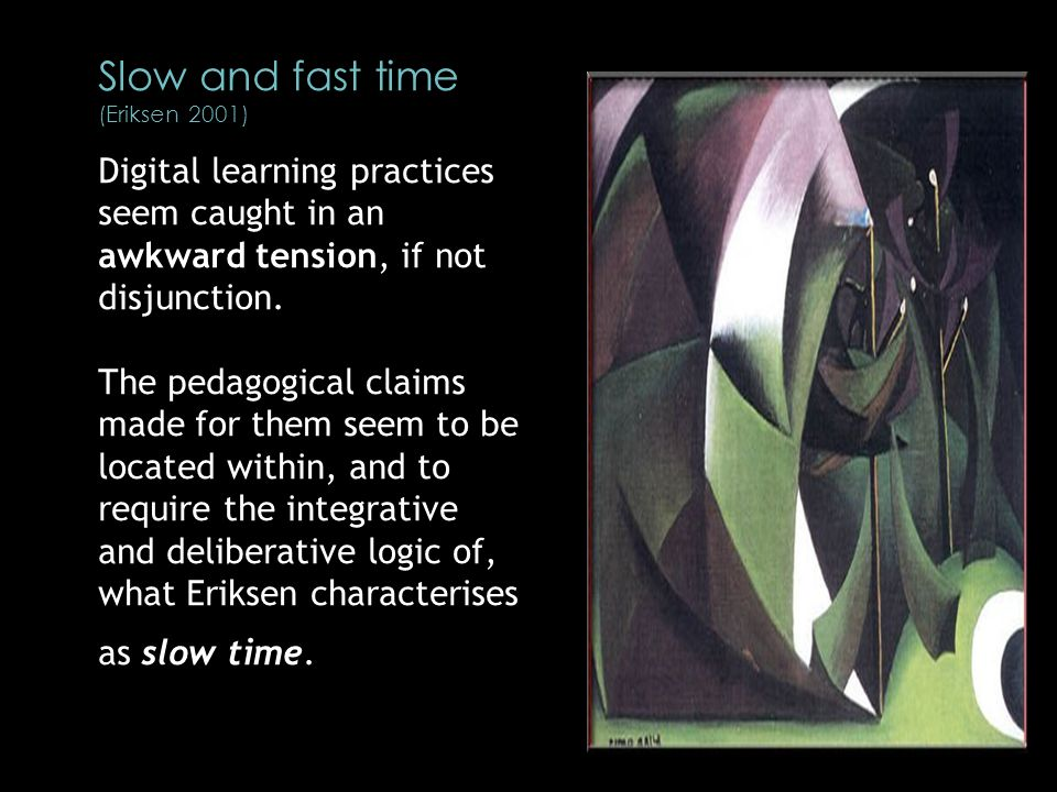 Digital learning practices seem caught in an awkward tension, if not disjunction.