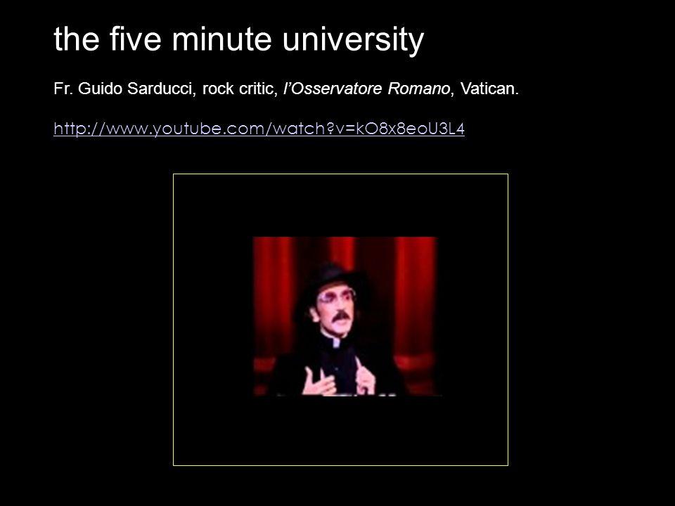 the five minute university Fr. Guido Sarducci, rock critic, l'Osservatore Romano, Vatican.