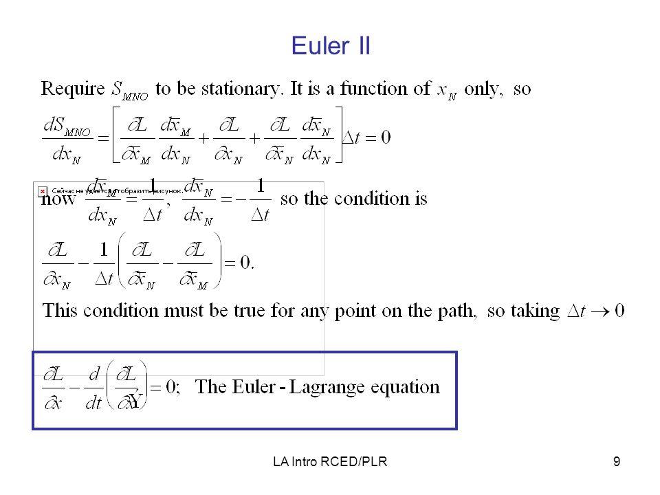 LA Intro RCED/PLR9 Euler II
