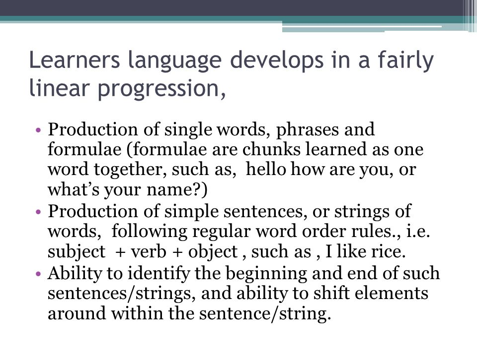 Language in the Classroom.