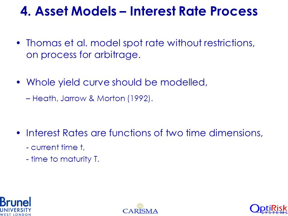 4. Asset Models – Interest Rate Process Thomas et al.