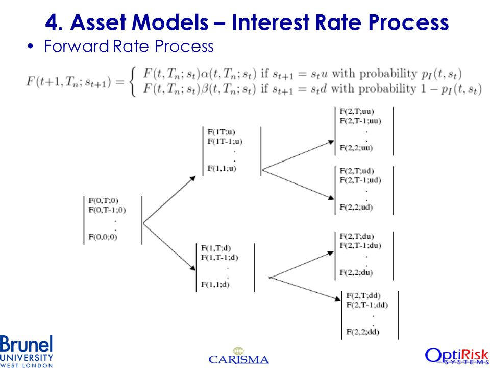 4. Asset Models – Interest Rate Process Forward Rate Process