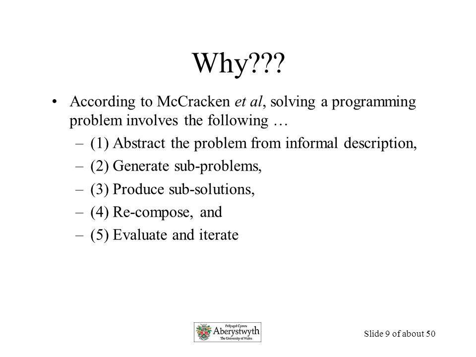 Slide 8 of about 50 McCracken, et al.