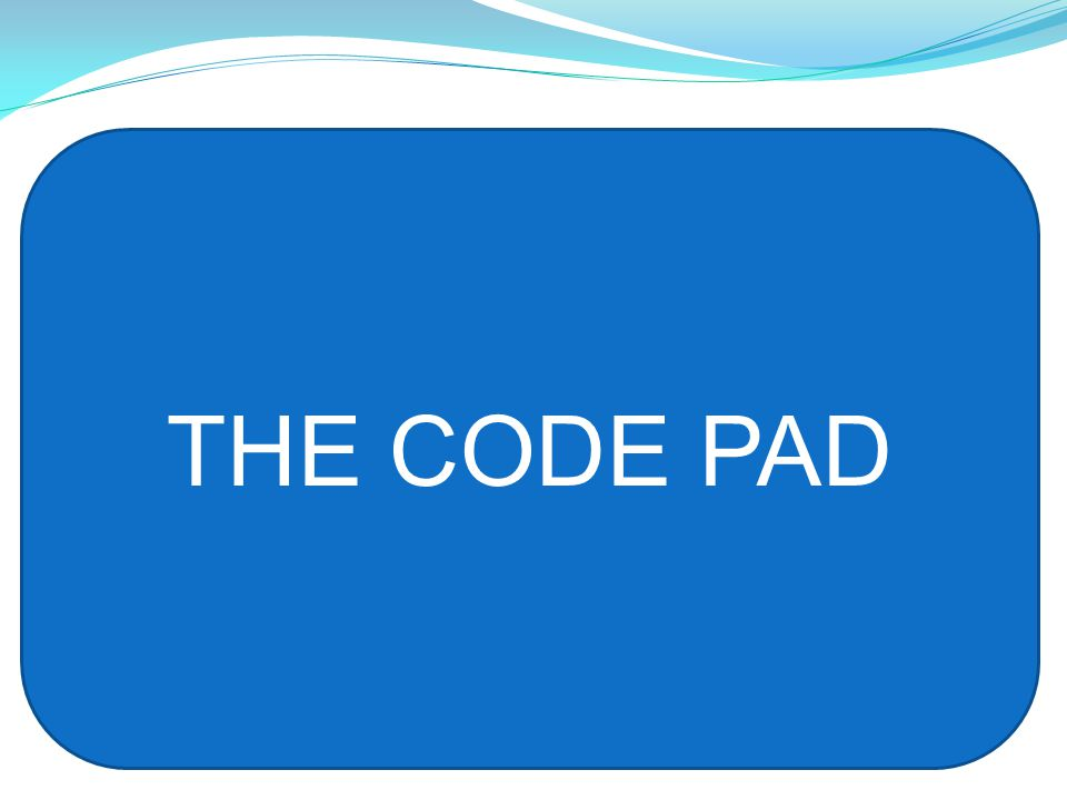 THE CODE PAD