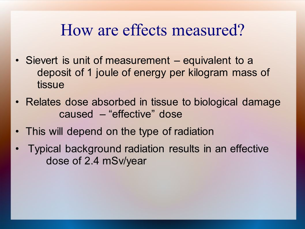 How are effects measured.
