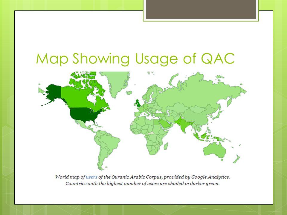 Map Showing Usage of QAC