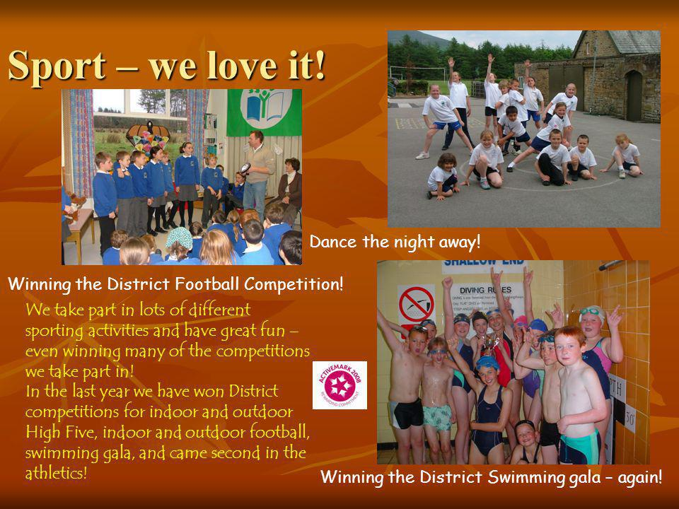 Sport – we love it.Winning the District Football Competition.