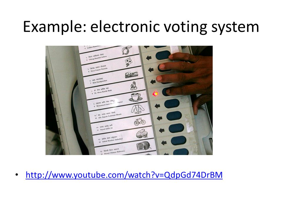 For discussion Confidentiality Integrity Availability Some others, such as non-repudiation Consider an electronic voting system How can these goals be achieved or not achieved?