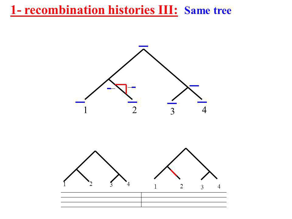 1- recombination histories III: Same tree