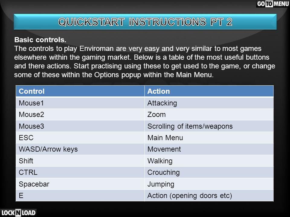 Basic controls.