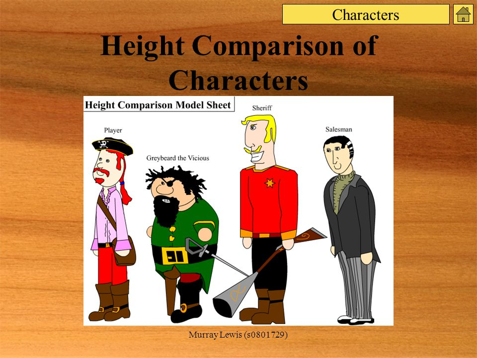 Murray Lewis (s ) Height Comparison of Characters Characters