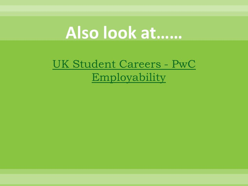 UK Student Careers - PwC Employability