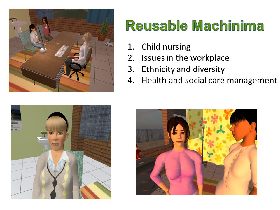 1.Child nursing 2.Issues in the workplace 3.Ethnicity and diversity 4.Health and social care management