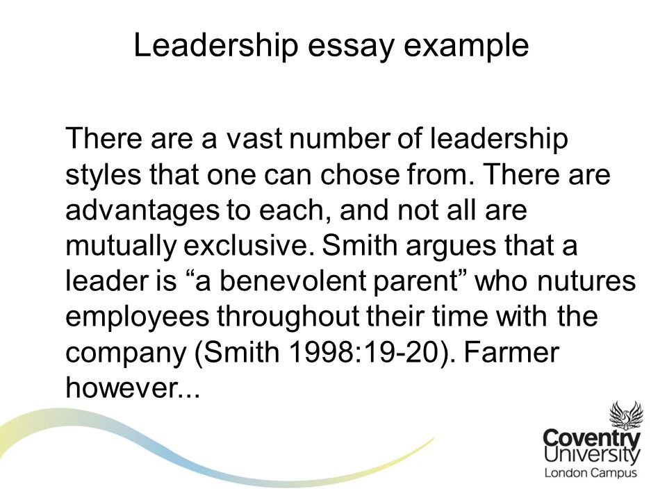 There are a vast number of leadership styles that one can chose from.