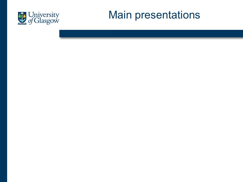 Main presentations