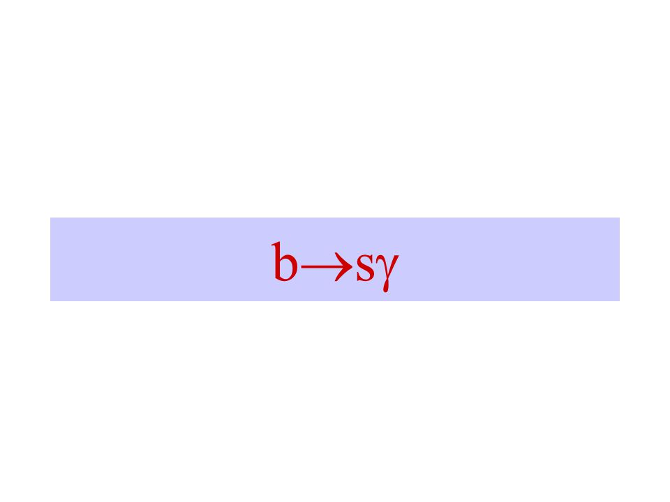 B (s)   +  - Unique Experimental signature Easy to identify / trigger – good for ATLAS/CMS Really really rare.