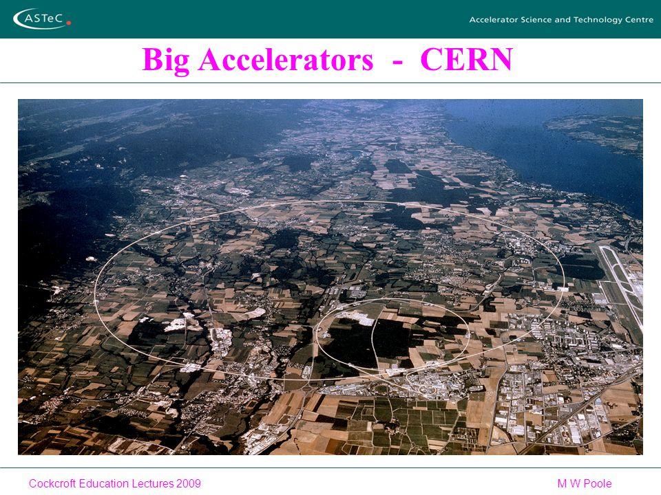 Cockcroft Education Lectures 2009M W Poole Big Accelerators - CERN
