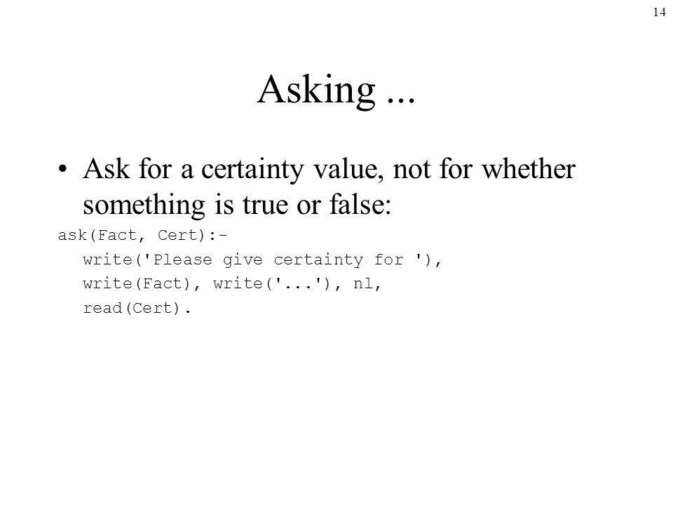 14 Asking...