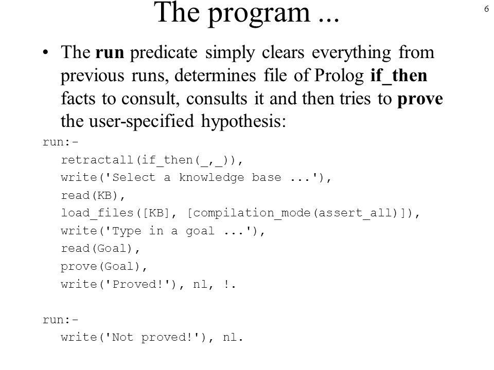 6 The program...