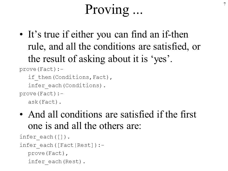 7 Proving...