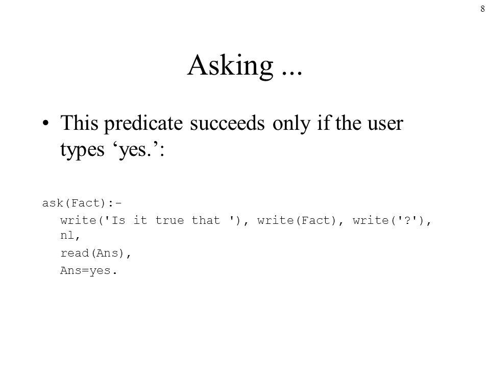 8 Asking...