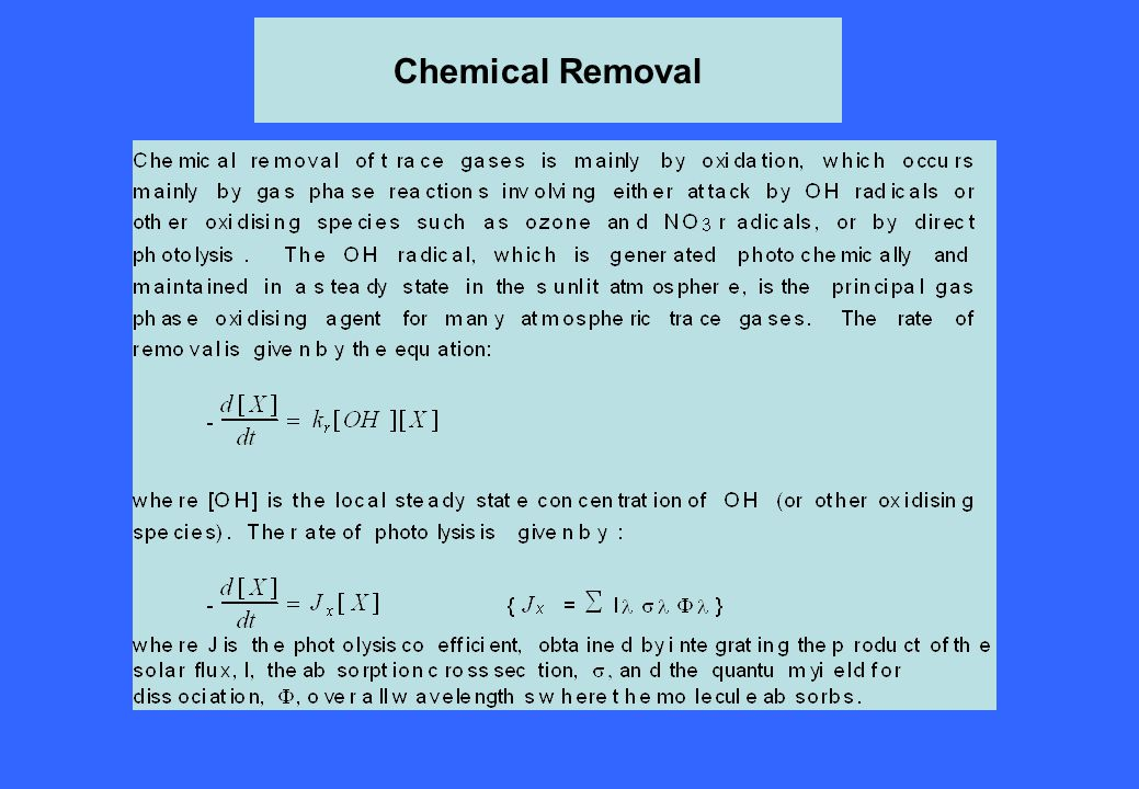 Chemical Removal