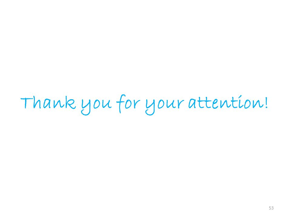 53 Thank you for your attention!