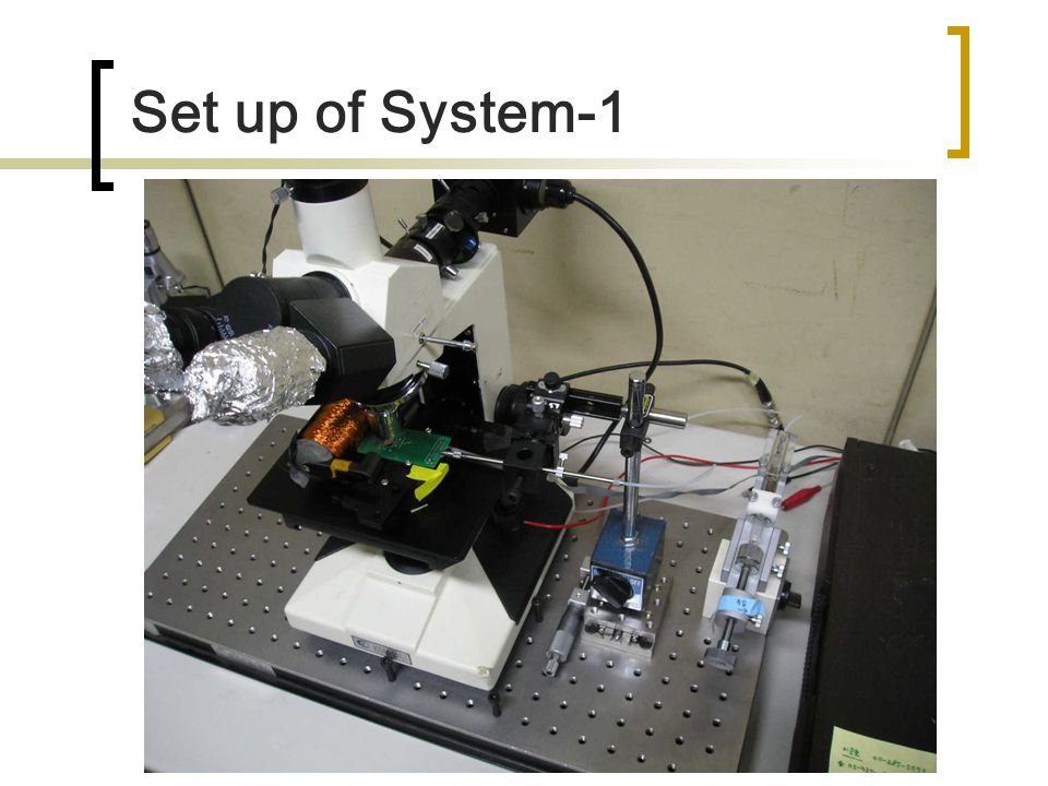 Set up of System-1