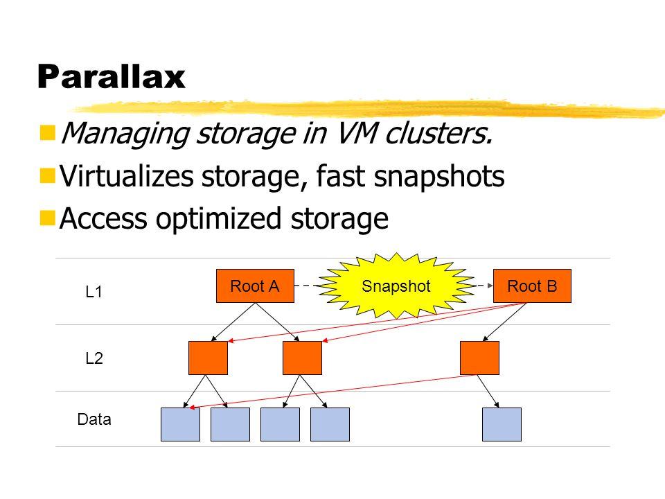 Parallax  Managing storage in VM clusters.