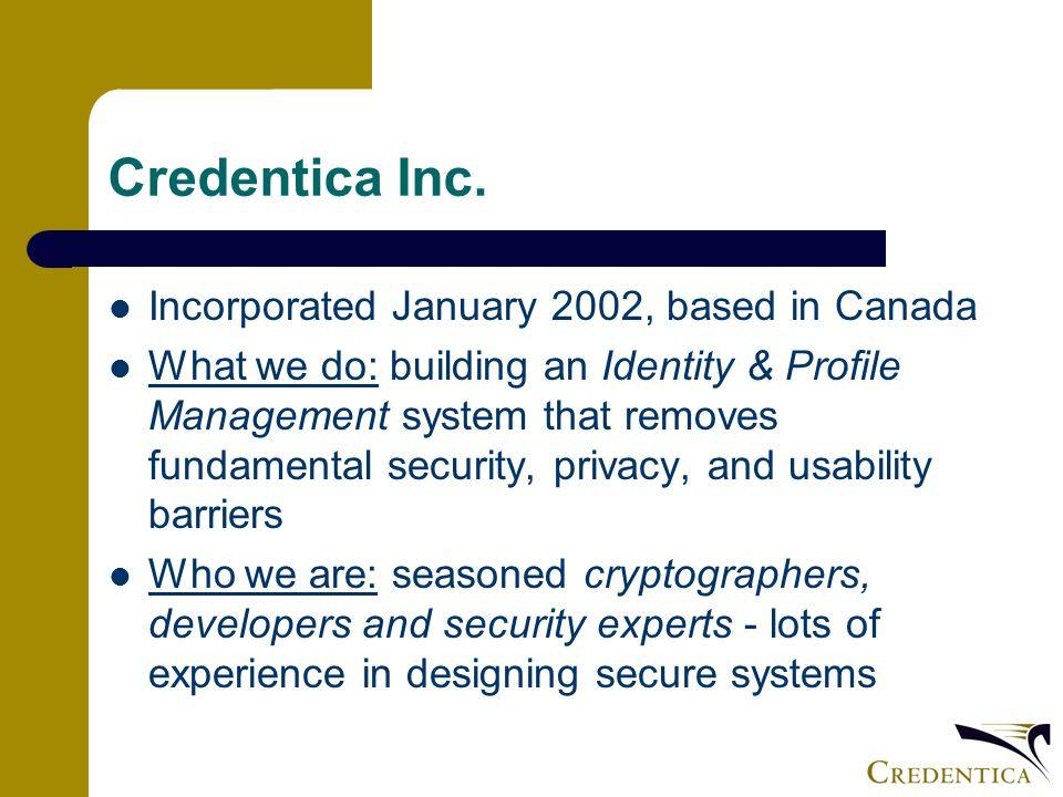 Credentica Inc.