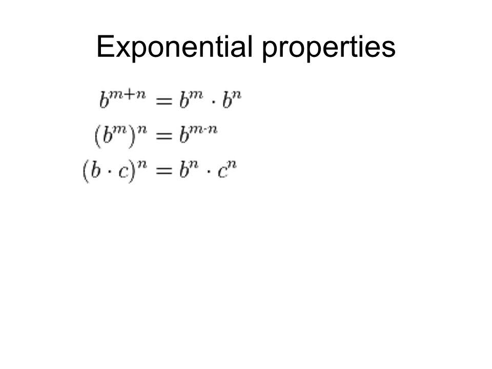 Exponential properties