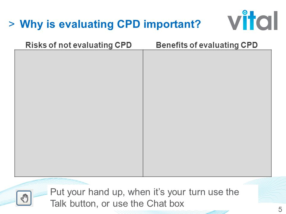 >Why is evaluating CPD important.