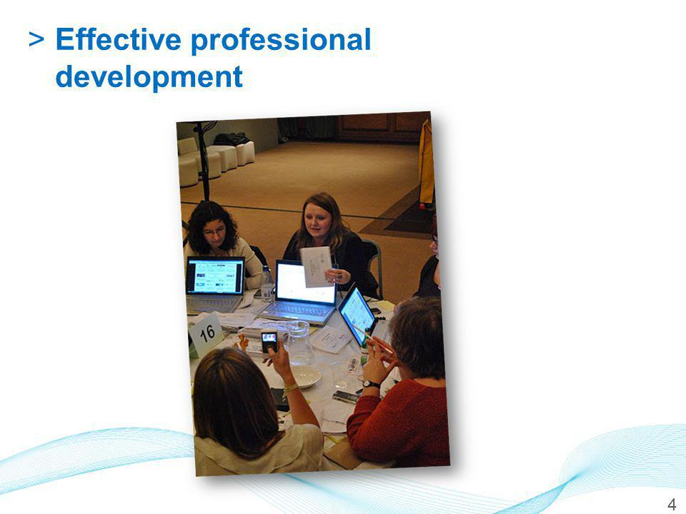 >Effective professional development 4