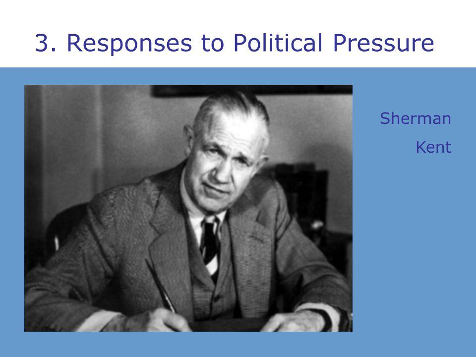 3. Responses to Political Pressure Sherman Kent