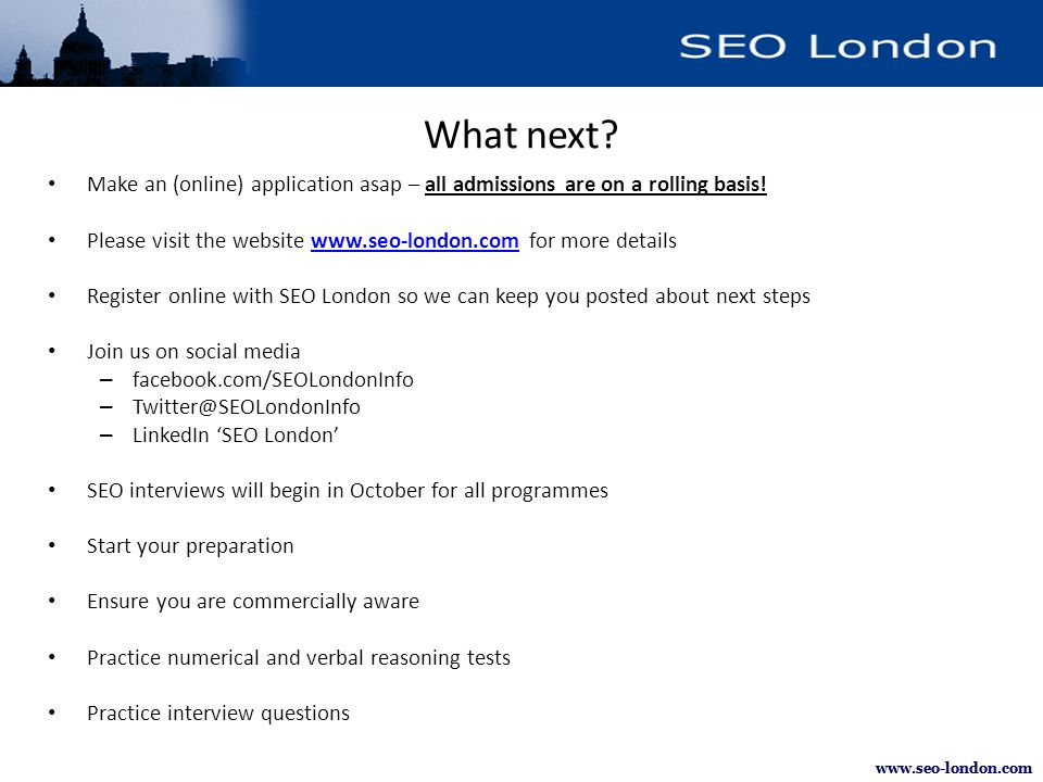 www.seo-london.com What next.