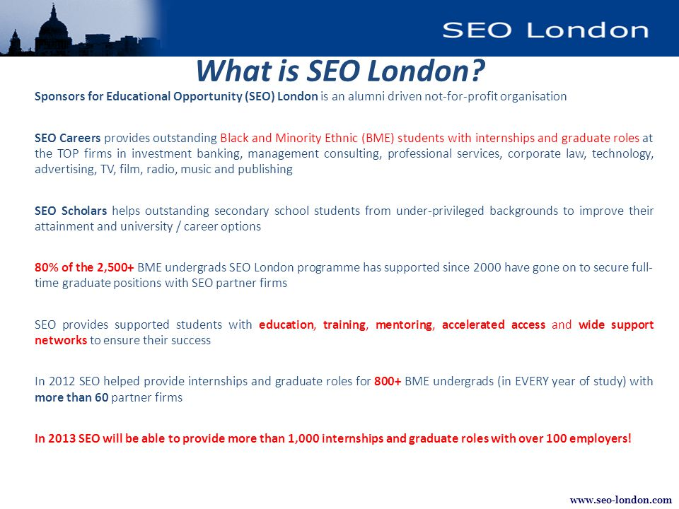 www.seo-london.com What is SEO London.