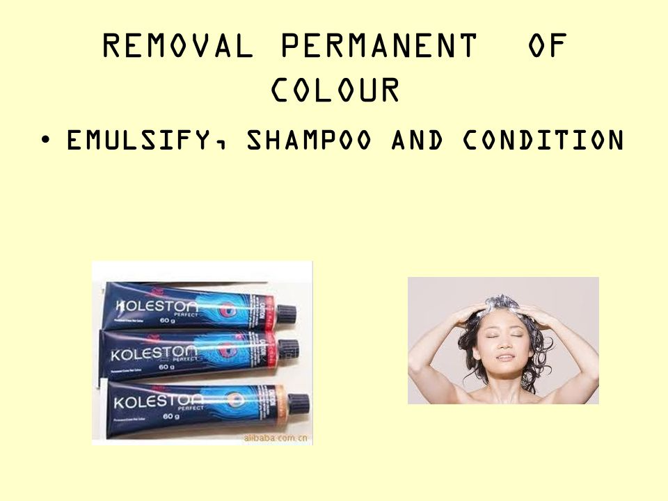 REMOVAL PERMANENT OF COLOUR EMULSIFY, SHAMPOO AND CONDITION