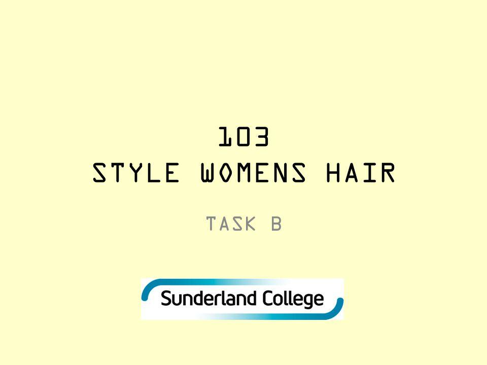103 STYLE WOMENS HAIR TASK B
